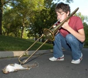 Squirrel trombone